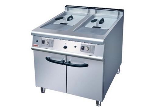 西餐设备——双缸双筛燃气炸炉