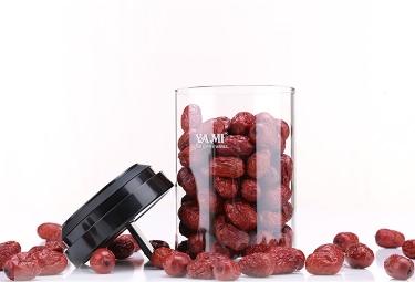 亚米玻璃密封罐(红色)