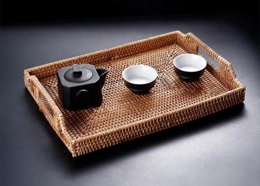 越南藤编茶盘
