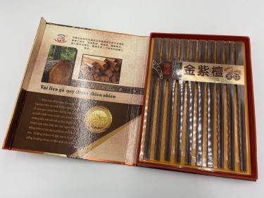 越南金紫檀原木筷子套装
